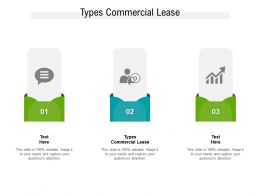 Types Commercial Lease Ppt Powerpoint Presentation Slides Graphics Example Cpb