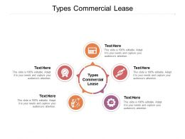 Types Commercial Lease Ppt Powerpoint Presentation Summary Background Cpb
