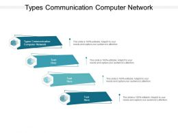Types Communication Computer Network Ppt Powerpoint Presentation Topics Cpb