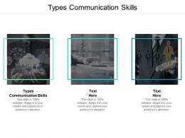 Types Communication Skills Ppt Powerpoint Presentation Layouts Slide Download Cpb