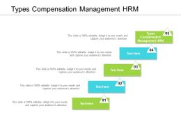 Types Compensation Management HRM Ppt Powerpoint Presentation Styles Cpb
