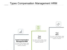 Types Compensation Management HRM Ppt Powerpoint Presentation Tips Cpb