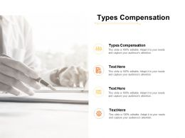 Types Compensation Ppt Powerpoint Presentation Ideas Display Cpb