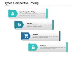Types Competitive Pricing Ppt Powerpoint Presentation Infographics Cpb