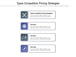 Types Competitive Pricing Strategies Ppt Powerpoint Presentation Ideas Portfolio Cpb
