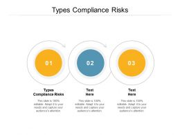 Types Compliance Risks Ppt Powerpoint Presentation Summary Outline Cpb