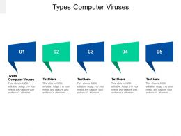 Types Computer Viruses Ppt Powerpoint Presentation Infographics Ideas Cpb