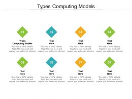 Types Computing Models Ppt Powerpoint Presentation Slides Sample Cpb
