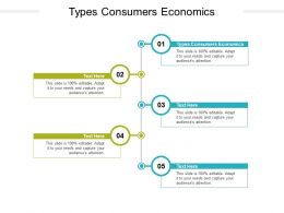 Types Consumers Economics Ppt Powerpoint Presentation Model Template Cpb