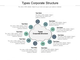 Types Corporate Structure Ppt Powerpoint Presentation Pictures Elements Cpb