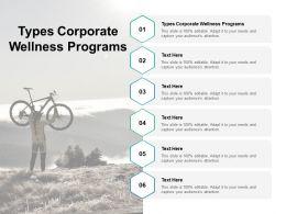 Types Corporate Wellness Programs Ppt Powerpoint Presentation Infographics Brochure Cpb