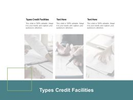Types Credit Facilities Ppt Powerpoint Presentation Slides Design Ideas Cpb
