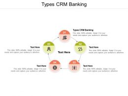 Types CRM Banking Ppt Powerpoint Presentation Professional Visual Aids Cpb