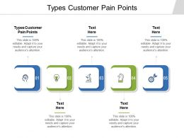 Types Customer Pain Points Ppt Powerpoint Presentation Infographics Themes Cpb