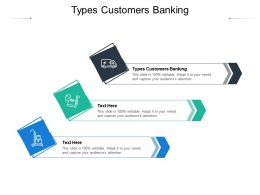 Types Customers Banking Ppt Powerpoint Presentation Gallery Demonstration Cpb