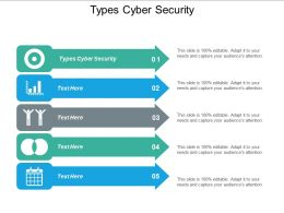 Types Cyber Security Ppt Powerpoint Presentation Gallery Ideas Cpb