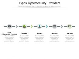 Types Cybersecurity Providers Ppt Powerpoint Presentation Infographics Grid Cpb