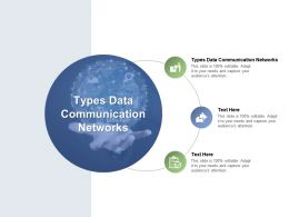 Types Data Communication Networks Ppt Powerpoint Presentation Layouts Deck Cpb