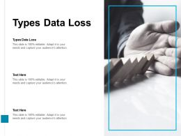 Types Data Loss Ppt Powerpoint Presentation Slides Vector Cpb