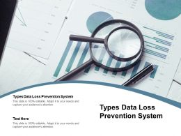 Types Data Loss Prevention System Ppt Powerpoint Presentation Professional Smartart Cpb