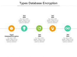 Types Database Encryption Ppt Powerpoint Presentation Outline Themes Cpb