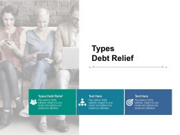 Types Debt Relief Ppt Powerpoint Presentation Icon Smartart Cpb