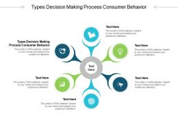 Types Decision Making Process Consumer Behavior Ppt Powerpoint Presentation Gallery Deck Cpb
