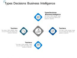 Types Decisions Business Intelligence Ppt Powerpoint Presentation Slides Graphics Template Cpb
