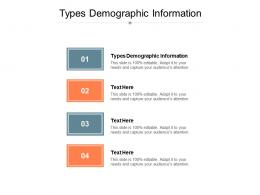 Types Demographic Information Ppt Powerpoint Presentation Ideas Professional Cpb