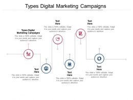 Types Digital Marketing Campaigns Ppt Powerpoint Presentation Model Backgrounds Cpb