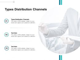 Types Distribution Channels Ppt Powerpoint Presentation Gallery Samples Cpb