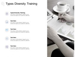 Types Diversity Training Ppt Powerpoint Presentation Gallery Slide Cpb