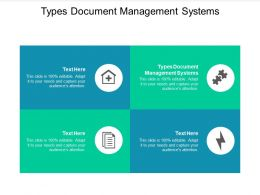 Types Document Management Systems Ppt Powerpoint Presentation Ideas Inspiration Cpb