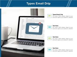 Types Email Drip Ppt Powerpoint Presentation Model Pictures Cpb