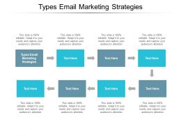 Types Email Marketing Strategies Ppt Powerpoint Presentation Icon Slides Cpb