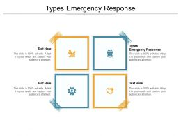 Types Emergency Response Ppt Powerpoint Presentation Styles Graphics Cpb
