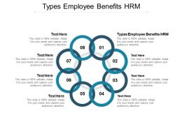 Types Employee Benefits HRM Ppt Powerpoint Presentation Gallery Aids Cpb