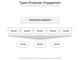 Types Employee Engagement Ppt Powerpoint Presentation Infographic Template Template Cpb