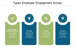 Types Employee Engagement Survey Ppt Powerpoint Presentation Outline Backgrounds Cpb