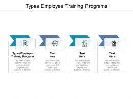 Types Employee Training Programs Ppt Powerpoint Presentation Infographics Topics Cpb