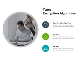 Types Encryption Algorithms Ppt Powerpoint Presentation Slides Inspiration Cpb