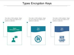 Types Encryption Keys Ppt Powerpoint Presentation Infographics Template Cpb