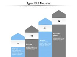 Types Erp Modules Ppt Powerpoint Presentation Professional Brochure Cpb