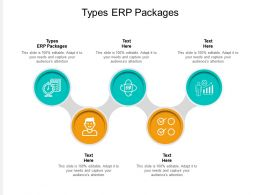 Types ERP Packages Ppt Powerpoint Presentation Outline Graphics Template Cpb