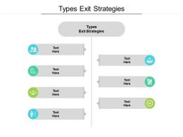 Types Exit Strategies Ppt Powerpoint Presentation Infographic Template Gridlines Cpb