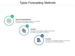 Types Forecasting Methods Ppt Powerpoint Presentation Layouts Slide Cpb