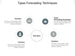 Types Forecasting Techniques Ppt Powerpoint Presentation File Vector Cpb