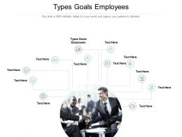 Types Goals Employees Ppt Powerpoint Presentation Styles Influencers Cpb