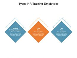 Types HR Training Employees Ppt Powerpoint Presentation Ideas Files Cpb