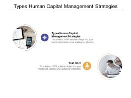 Types Human Capital Management Strategies Ppt Powerpoint Presentation Rules Cpb